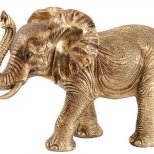 Gold Elephant Statue - Abstract Large Elephant Sculpture - Gold