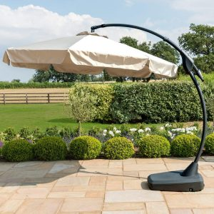 Garden Banana Parasol - Beige - Canopy 300cm
