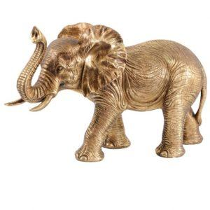 Elephant Statue - Large Gold Abstract Elephant Sculpture