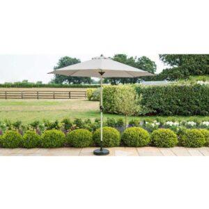 Garden Table Umbrella & Base - 2.7cm - Grey