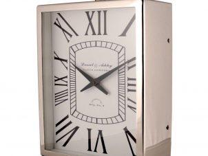 Mantel Clock - Medium Ashley Clock Company Chrome Mantel Clock - Roman Numerals
