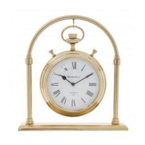 Mantel Clock - Hampstead Clock Co - Brass - Large - Roman Numerals