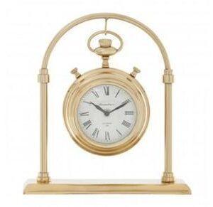 Mantel Clock - Hampstead Clock Co - Brass - Roman Numerals - Small