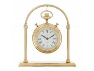 Mantel Clock - Hampstead Clock Co - Brass - Roman Numerals - Small