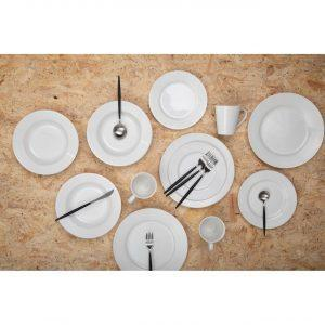 16 Piece Cutlery Set - Highly Polished Chrome & Black Finish