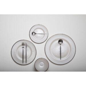 16 Piece Cutlery Set - Matt Chrome Finish - Contemporary Design