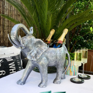 Elephant Wine Cooler - Standing Elephant Champagne Cooler