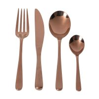 Cutlery Set - 24 Piece Highly Polished Copper Cutlery Set