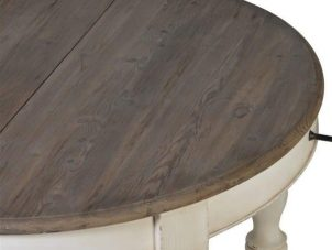Dining Table - Large White Distressed American Oak - Fully Extending Dining Table - 320cm
