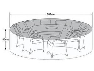 Cover - Large Round Garden Dining Set - Outdoor All Weather Furniture Cover