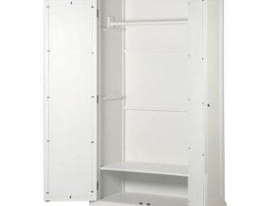 Wardrobe - 2 Door - Rear Mirrored Glass Design - Ascot Furniture Range