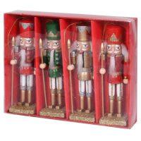 Christmas Nutcrackers - Set Of 4 Multi Coloured Christmas Nutcracker