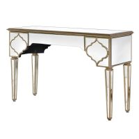 Console Table - Champagne Finish - Mirrored - 1 Drawer Console