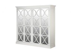 Wardrobe - 4 Door - Rear Mirrored Glass Design - Ascot Furniture Range