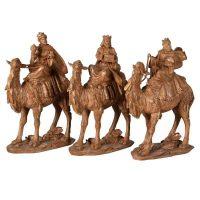 3 Kings - Camel Riding We Three Kings Christmas Statues