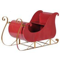 Christmas Sleigh - Large Red Christmas Display Sleigh