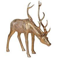 Christmas Reindeer - Large Grazing Reindeer - Gold