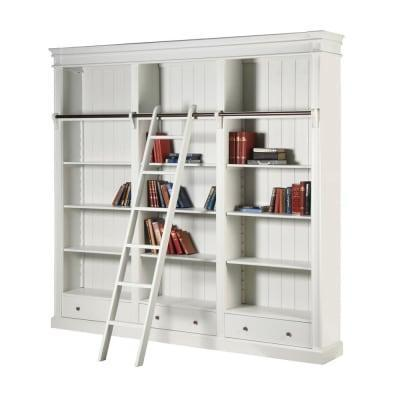Bookcase - Large Bookcase - 3 Drawers - 4 Shelves - Ascot Furniture Range