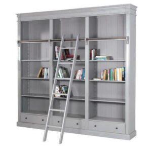 Bookcase - Large Bookcase - 3 Drawers - 4 Shelves - Ascot Furniture Range
