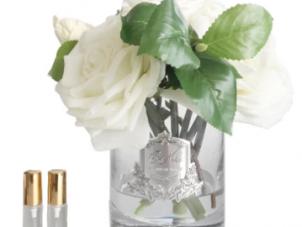 Tea Rose - Luxury Tea Rose Cote Noire Display - Ivory