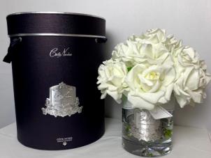 Tea Rose - Luxury 12 Tea Rose Cote Noire Diffuser Flower Display - Ivory