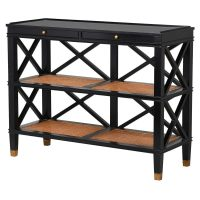 Console - Black Edged - 2 Drawers - 2 Shelves - Dorchester Black Range