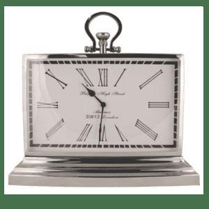 Mantel Clock - Barnes High St Clock Co - Chrome - Roman Numerals