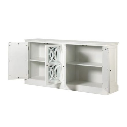 Sideboard - 4 Door - Rear Mirrored Glass Design Sideboard - French Antique White Range