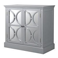 Sideboard - 2 Door - Rear Mirrored Glass Design Sideboard - Ascot Furniture Range