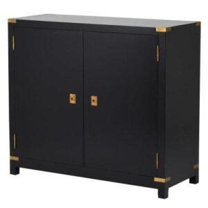 Sideboard - Black & Gold Edged - 2 Doors - Dorchester Black Range