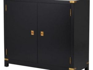 Sideboard - Black & Gold Edged - 2 Doors - Dorchester Black Range