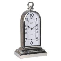 Mantel Clock - Bond Street Clock Co - Tall Chrome Mantel Clock