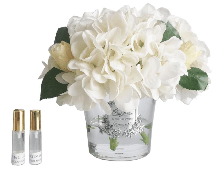 Hydrangea's & Rose Buds - Luxury Cote Noire Display - Ivory
