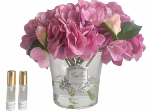 Hydrangea's & Rose Buds - Luxury Cote Noire Display - Mauve