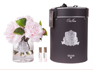 Tea Rose - Luxury Tea Rose Cote Noire Diffuser Flower Display - French Pink