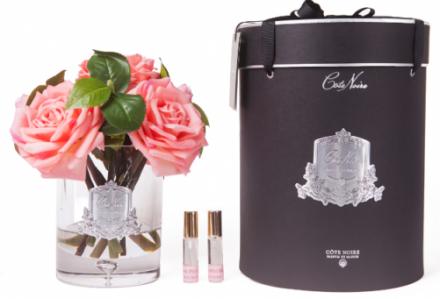 Tea Rose - Luxury Tea Rose Cote Noire Display - White Peach