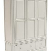 Triple Wardrobe - Drawers To Base - Taupe Finish - Isabel Bedroom Range