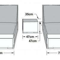 Sun Lounger Cover - Double Sun Lounger Furniture Cover - Outdoor All Weather