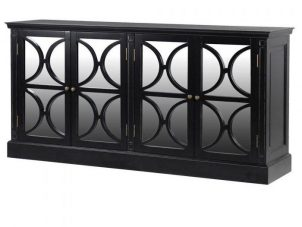 Sideboard - 4 Door - Rear Mirrored Glass Design - Ascot Furniture Range
