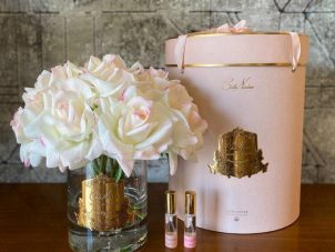 Tea Rose - Luxury Cote Noire Diffuser Flower Display - Limited Edition Pink Blush