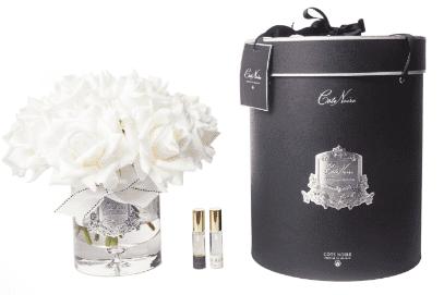 Tea Rose - Luxury 12 Tea Rose Cote Noire Display - Ivory