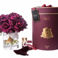 Tea Rose - Luxury 12 Tea Rose Cote Noire Display - Carmine Red