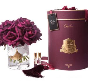 Tea Rose - Luxury 12 Tea Rose Cote Noire Display - Carmine Red