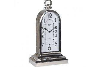 Mantel Clock - Bond Street Clock Co - Tall - Chrome