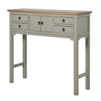 Console Table - Small 4 Drawer 2 Cupboard Hall Table - Wiltshire Furniture Range