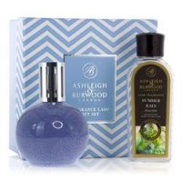 Fragrance Lamp - Premium Boxed Gift Set - Blue Speckle & Summer Rain