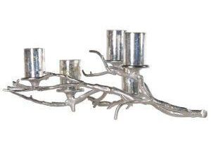 Candle Holder - Branch Design 5 T Light Metal Candle Holder