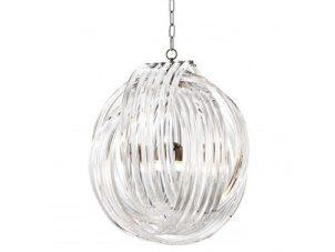 Chandelier - 4 Light - Round Design - Acrylic Rod & Chrome Chandelier