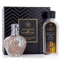 Fragrance Lamp - Premium Boxed Gift Set - Apricot Shimmer - Moroccan Spice