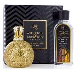 Fragrance Lamp - Premium Boxed Gift Set - Golden Orb - Moroccan Spice